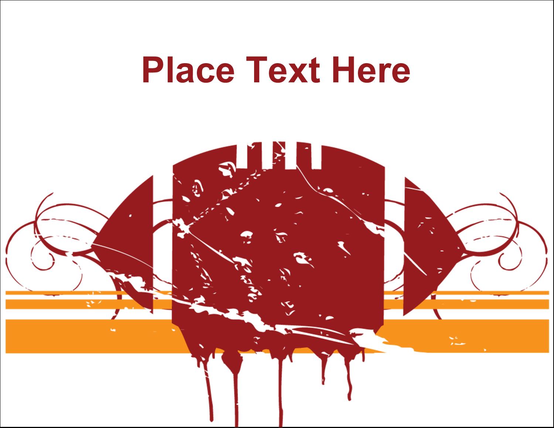 "5½"" x 4¼"" Postcard - Football Grunge"