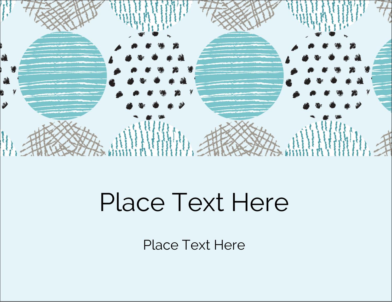 "4¼"" x 5½"" Postcard - Urban Circles Blue"