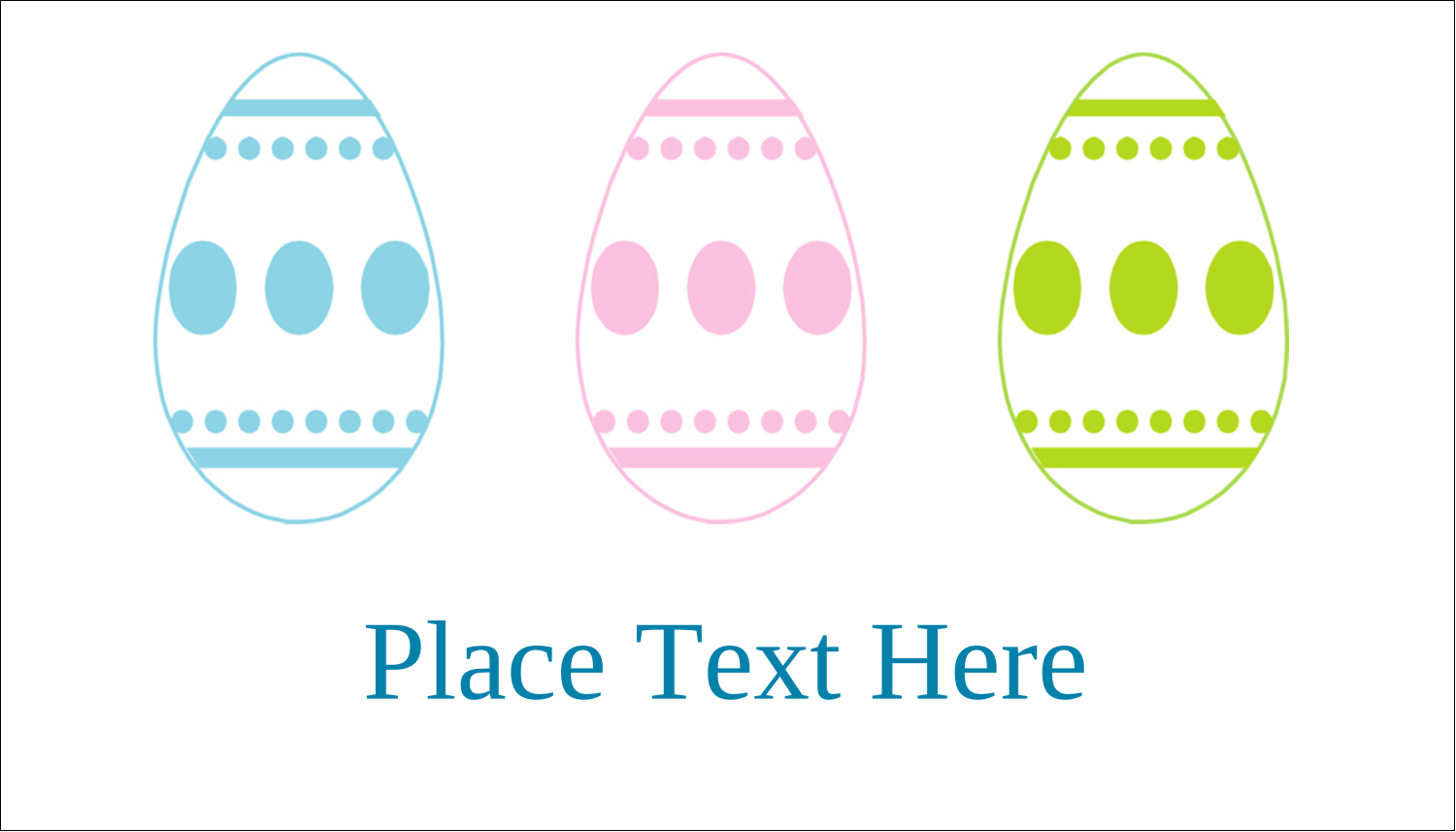 "2"" x 3½"" Business Card - Easter Egg Trio"