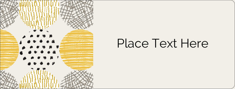 "½"" x 1¾"" Address Label - Urban Circles Yellow"