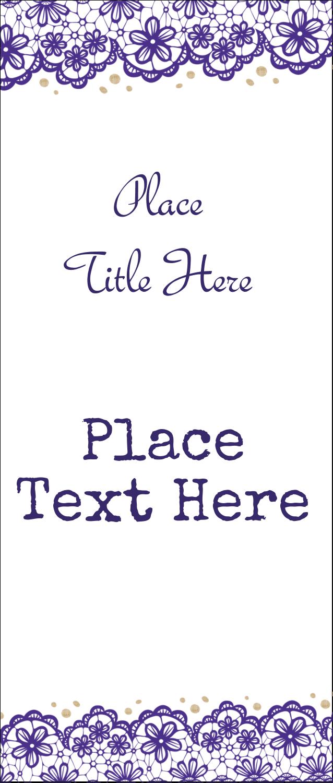 "1¾"" x 5½"" Printable Tickets - Purple Lace Wedding"