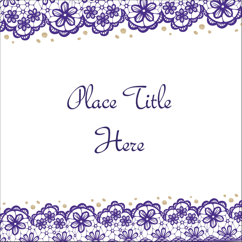 "2"" x 2"" Sqaure Label - Purple Lace Wedding"