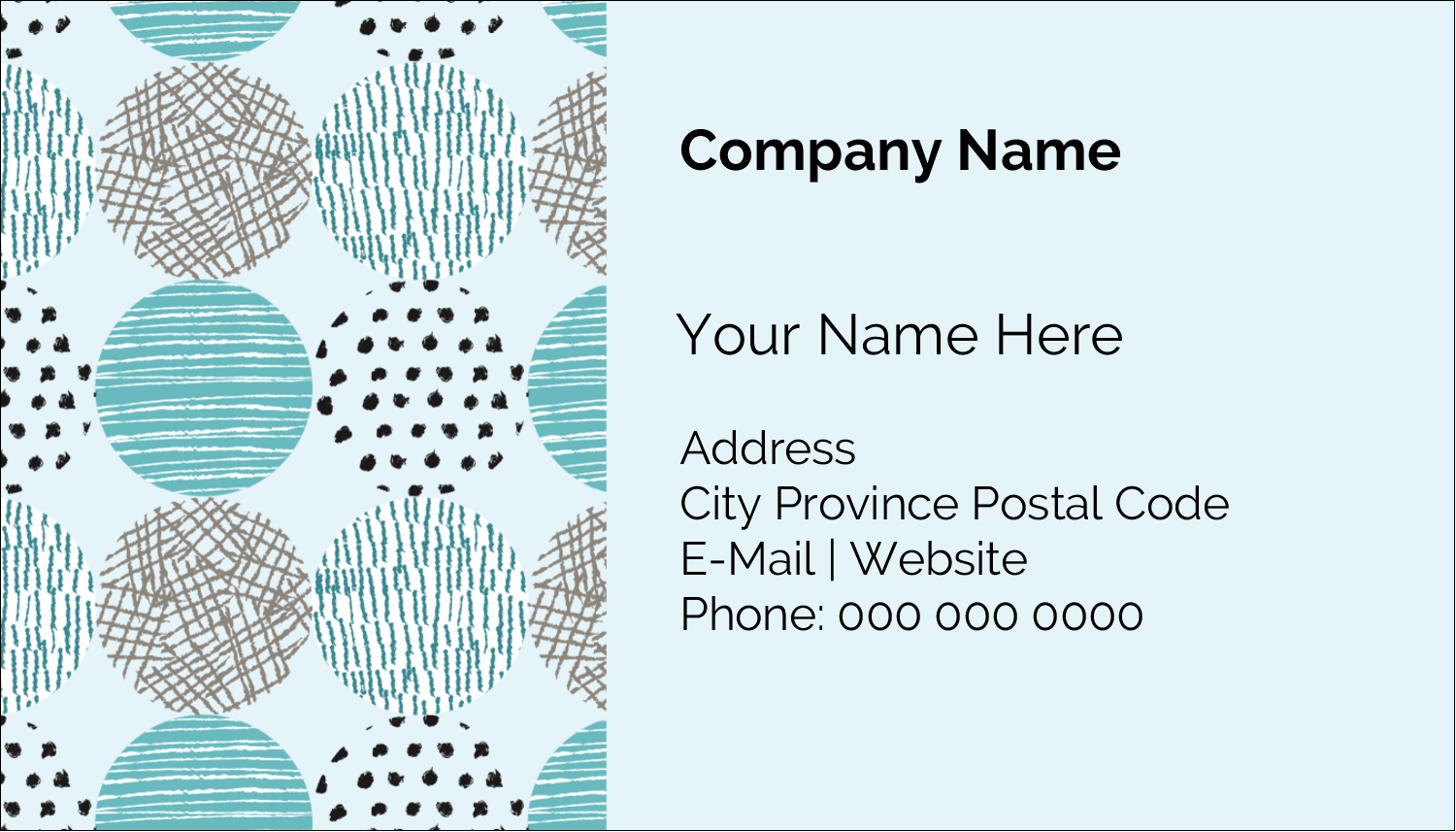 "2"" x 3½"" Business Card - Urban Circles Blue"