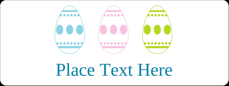 "⅔"" x 1¾"" Address Label - Easter Egg Trio"