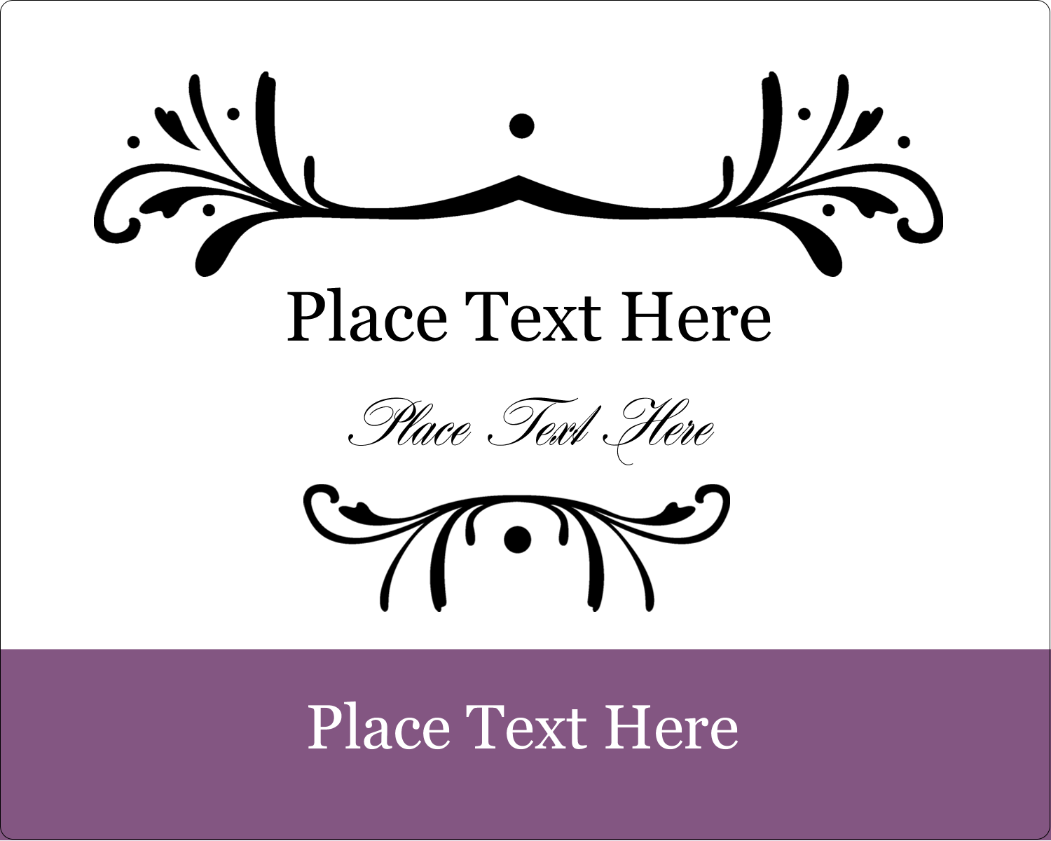 "3"" x 3¾"" Rectangular Label - Filigree Purple"