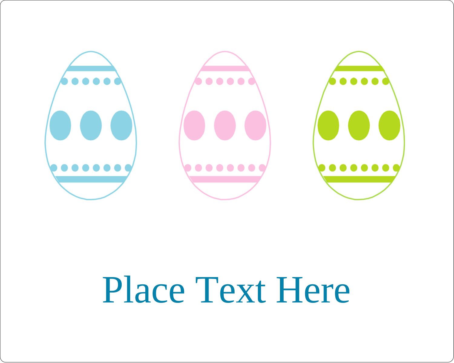 "3"" x 3¾"" Rectangular Label - Easter Egg Trio"