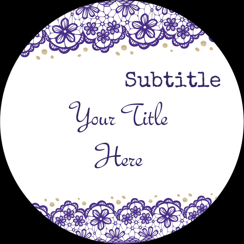 "2½"" Round Label - Purple Lace Wedding"