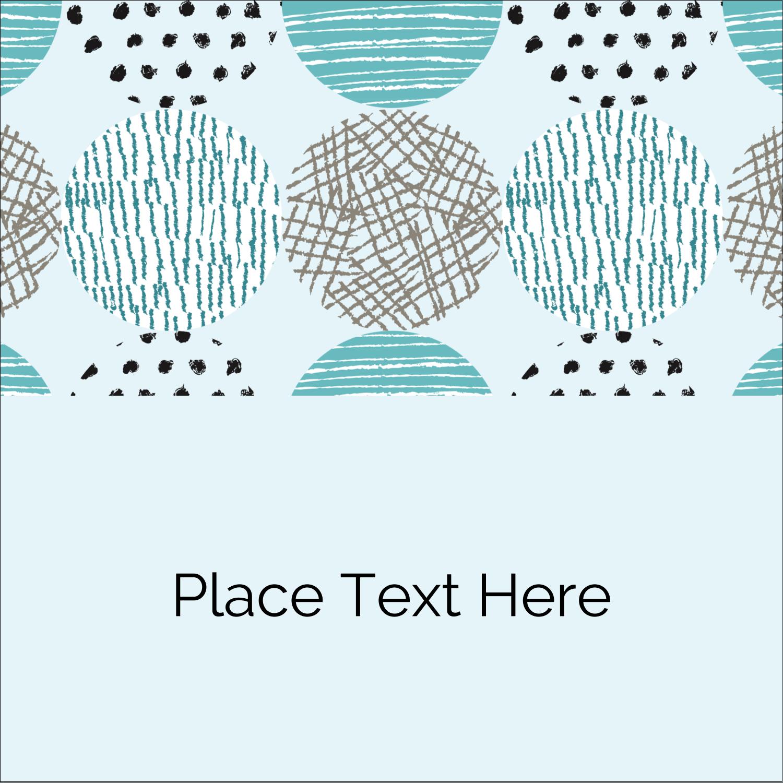 "2"" x 2"" Square Label - Urban Circles Blue"