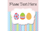 Give Easter decorations bright blue and pink polka dotted Easter eggs !
