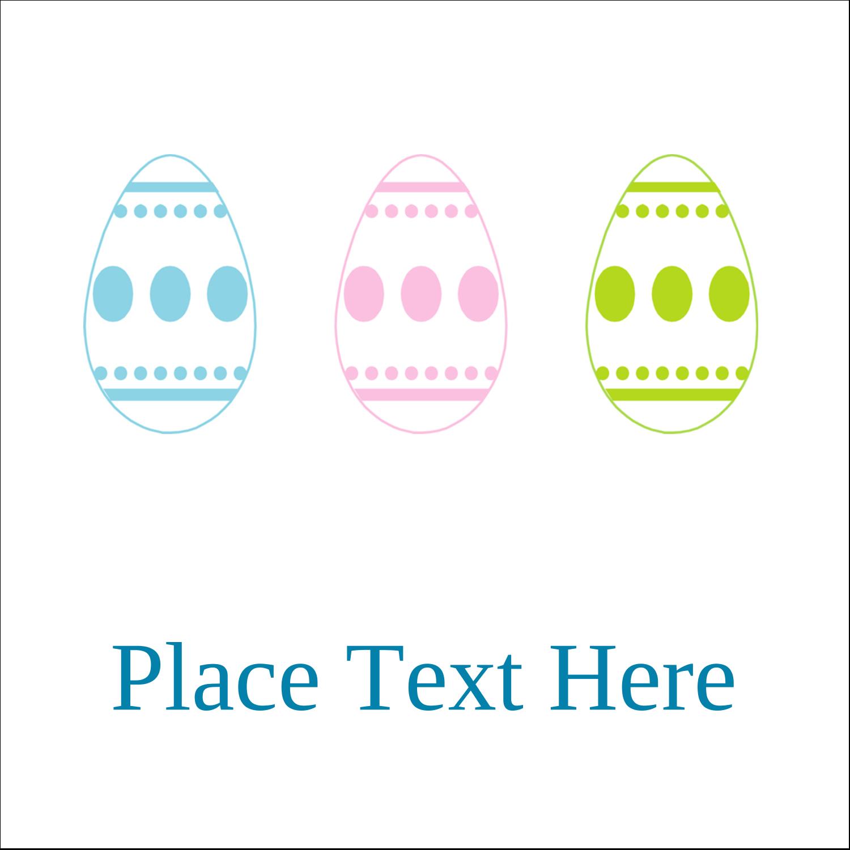 "2"" x 2"" Square Label - Easter Egg Trio"