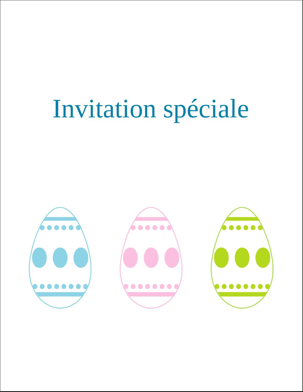 """5½"""" x 8½"""" Carte de voeux - Trio d'œufs de Pâques"""