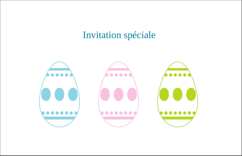 """5½"""" x 8½"""" Cartes de souhaits pliées en deux - Trio d'œufs de Pâques"""