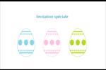 Trio d'œufs de Pâques Cartes de souhaits pliées en deux - gabarit prédéfini. <br/>Utilisez notre logiciel Avery Design & Print Online pour personnaliser facilement la conception.