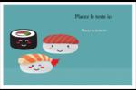 Émoticônes de sushis Cartes Et Articles D'Artisanat Imprimables - gabarit prédéfini. <br/>Utilisez notre logiciel Avery Design & Print Online pour personnaliser facilement la conception.