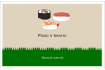 Sushis  Cartes Et Articles D'Artisanat Imprimables - gabarit prédéfini. <br/>Utilisez notre logiciel Avery Design & Print Online pour personnaliser facilement la conception.