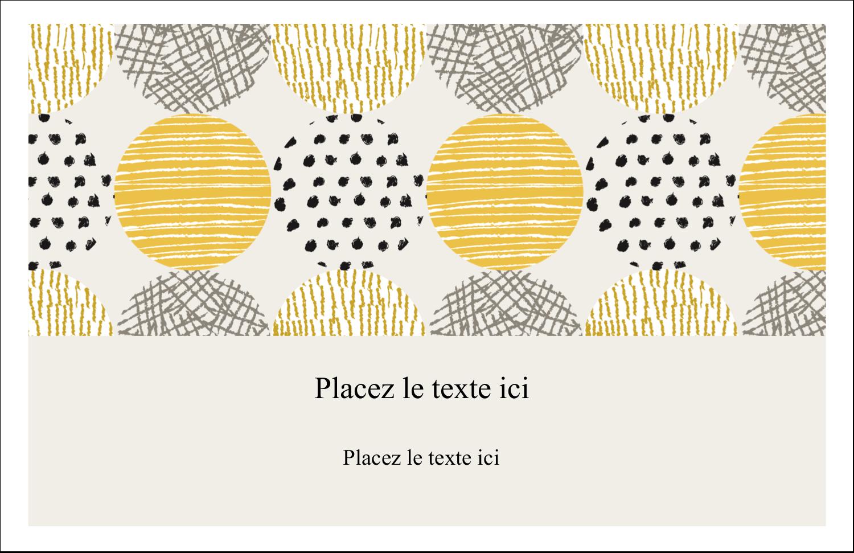 """8½"""" x 11"""" Cartes Et Articles D'Artisanat Imprimables - Cercles urbains jaunes"""