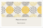 Cercles urbains jaunes Cartes Et Articles D'Artisanat Imprimables - gabarit prédéfini. <br/>Utilisez notre logiciel Avery Design & Print Online pour personnaliser facilement la conception.