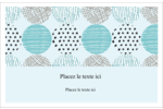 Cercles urbains bleus Cartes Et Articles D'Artisanat Imprimables - gabarit prédéfini. <br/>Utilisez notre logiciel Avery Design & Print Online pour personnaliser facilement la conception.