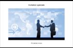 Poignée de main professionnelle Cartes Et Articles D'Artisanat Imprimables - gabarit prédéfini. <br/>Utilisez notre logiciel Avery Design & Print Online pour personnaliser facilement la conception.