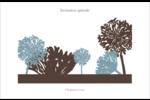 Silhouette de fleur Cartes Et Articles D'Artisanat Imprimables - gabarit prédéfini. <br/>Utilisez notre logiciel Avery Design & Print Online pour personnaliser facilement la conception.