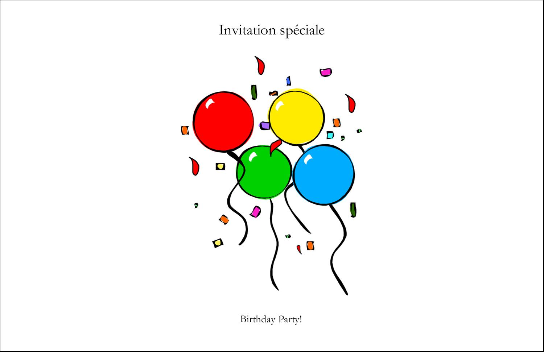 """5½"""" x 8½"""" Cartes de souhaits pliées en deux - Quatre ballons"""