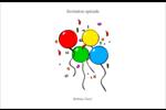 Quatre ballons Cartes de souhaits pliées en deux - gabarit prédéfini. <br/>Utilisez notre logiciel Avery Design & Print Online pour personnaliser facilement la conception.