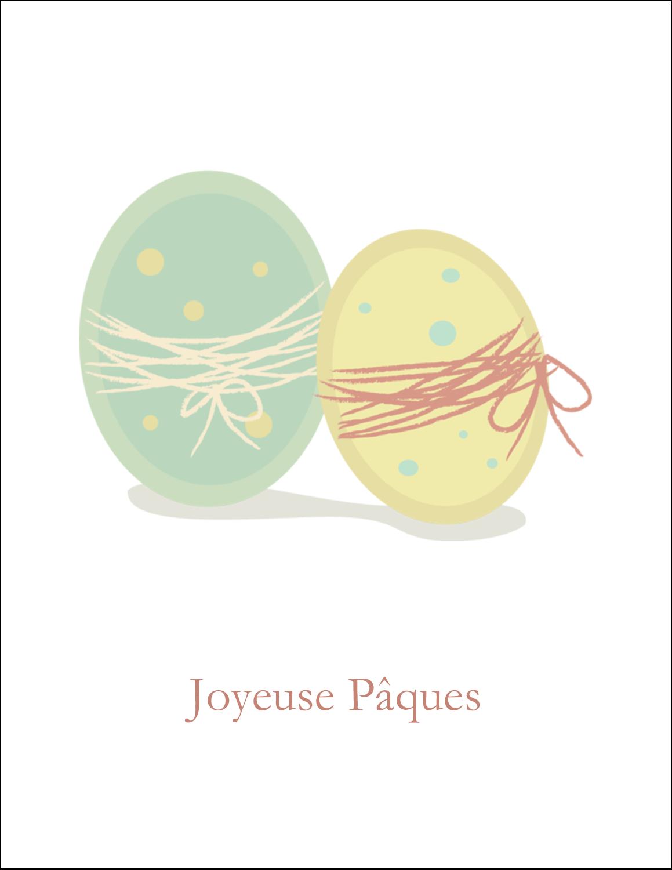 """8½"""" x 11"""" Cartes Et Articles D'Artisanat Imprimables - Œufs jumeaux"""