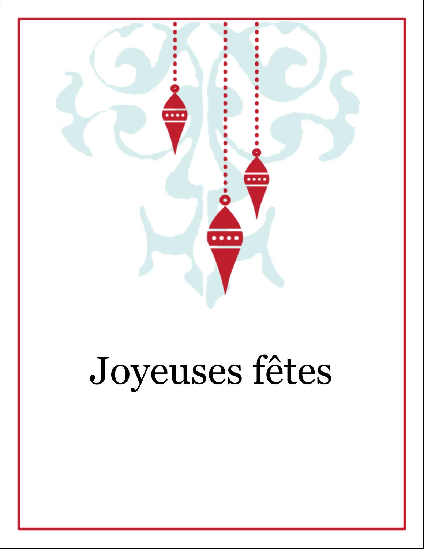 """8½"""" x 11"""" Cartes Et Articles D'Artisanat Imprimables - Noël élégant"""