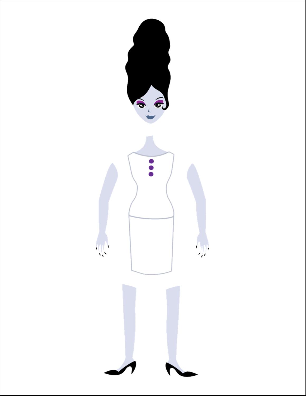 """8½"""" x 11"""" Cartes Et Articles D'Artisanat Imprimables - Frankenstein et la mariée"""