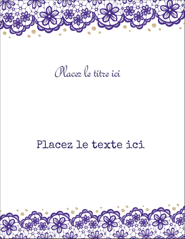 """8½"""" x 11"""" Cartes Et Articles D'Artisanat Imprimables - Mariage en dentelle violette"""