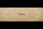 Toile à frange Étiquettes Thermiques - gabarit prédéfini. <br/>Utilisez notre logiciel Avery Design & Print Online pour personnaliser facilement la conception.