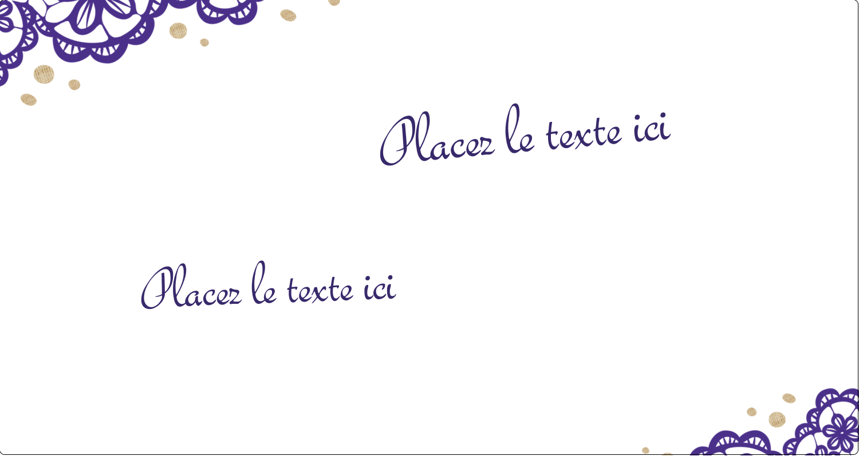 """3-7/16"""" x 9/16"""" Étiquettes Thermiques - Mariage en dentelle violette"""