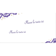 Mariage en dentelle violette