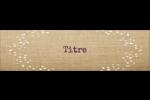 Toile à frange Étiquettes badges autocollants - gabarit prédéfini. <br/>Utilisez notre logiciel Avery Design & Print Online pour personnaliser facilement la conception.