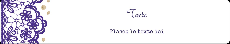 """3½"""" x ⅝"""" Étiquettes de classement - Mariage en dentelle violette"""