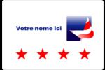 Étoile patriotique Étiquettes Pour Médias - gabarit prédéfini. <br/>Utilisez notre logiciel Avery Design & Print Online pour personnaliser facilement la conception.