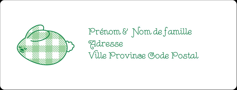 """1"""" x 2⅝"""" Étiquettes d'adresse - Lapin d'Écosse"""