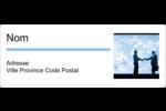 Poignée de main professionnelle Étiquettes d'adresse - gabarit prédéfini. <br/>Utilisez notre logiciel Avery Design & Print Online pour personnaliser facilement la conception.
