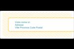 Lignes jaunes Étiquettes d'adresse - gabarit prédéfini. <br/>Utilisez notre logiciel Avery Design & Print Online pour personnaliser facilement la conception.