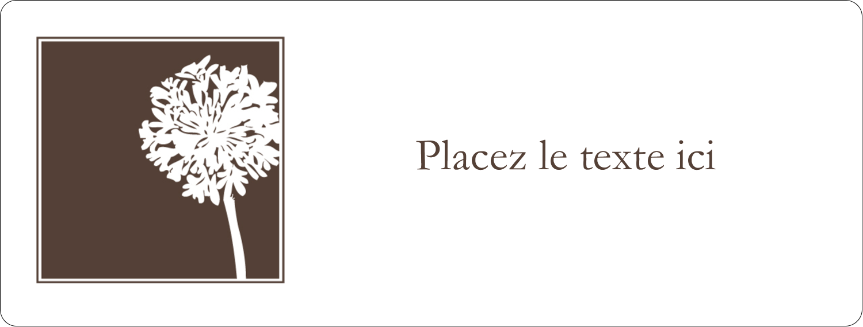 """2⅝"""" x 1"""" Étiquettes Voyantes - Silhouette de fleur"""