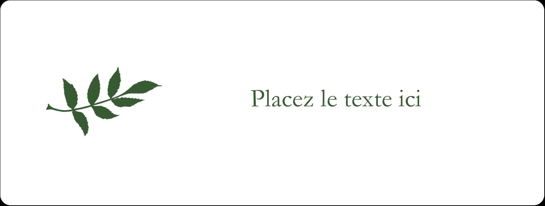 """2⅝"""" x 1"""" Étiquettes Voyantes - Rameau d'olivier simple"""