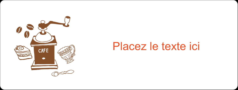 """2⅝"""" x 1"""" Étiquettes Voyantes - Café classique"""