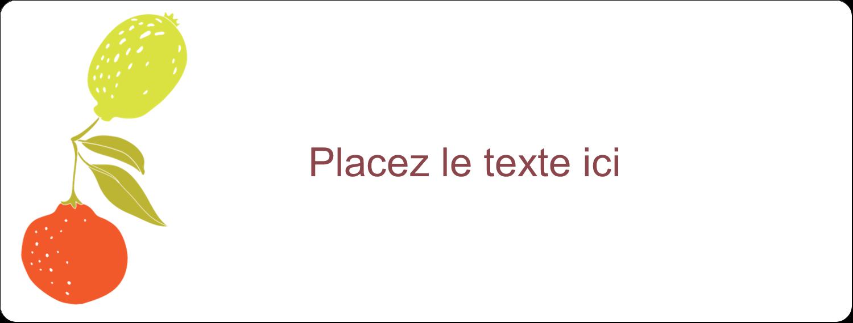 """2⅝"""" x 1"""" Étiquettes Voyantes - Fruits rétro"""