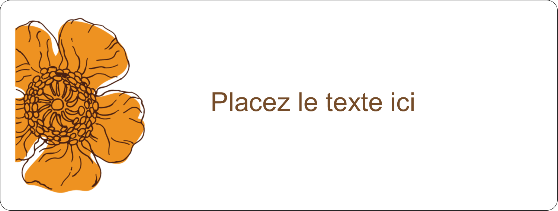 """2⅝"""" x 1"""" Étiquettes Voyantes - Illustrations florales"""