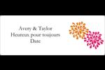 Fête prénuptiale en rose et orange Étiquettes D'Identification - gabarit prédéfini. <br/>Utilisez notre logiciel Avery Design & Print Online pour personnaliser facilement la conception.