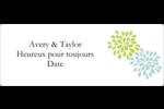 Fleurs bleues et vertes Étiquettes D'Identification - gabarit prédéfini. <br/>Utilisez notre logiciel Avery Design & Print Online pour personnaliser facilement la conception.