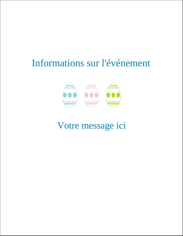 """5½"""" x 4-1/4"""" Carte de voeux - Trio d'œufs de Pâques"""