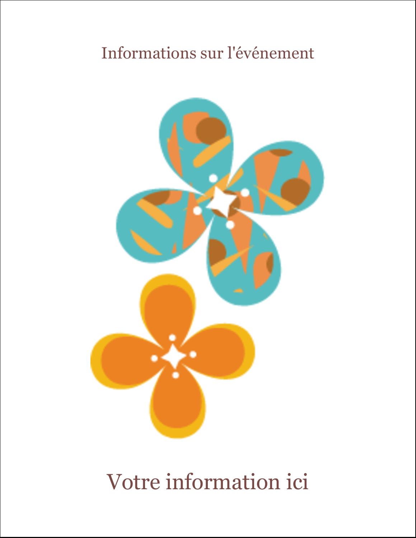 "8½"" x 11"" Intercalaires / Onglets - Motif fleuri"
