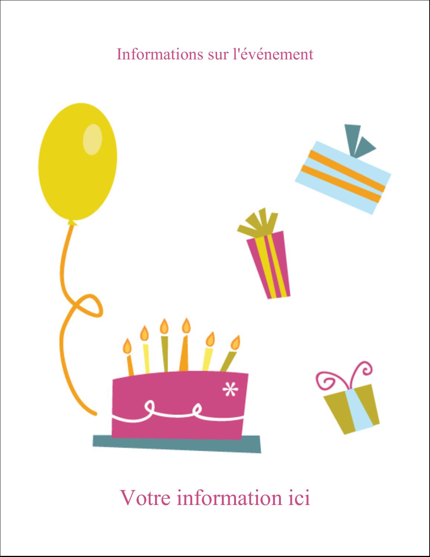 """8½"""" x 11"""" Intercalaires / Onglets - Fête d'anniversaire"""
