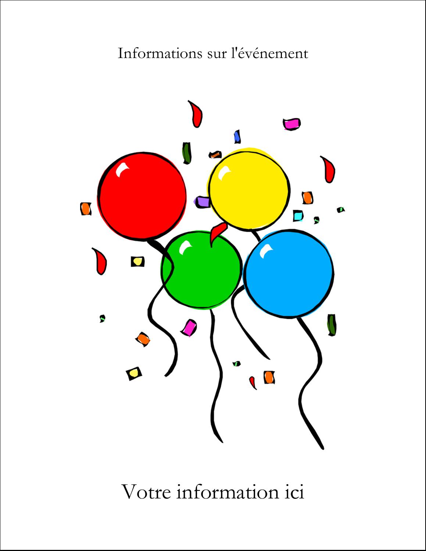 """5½"""" x 4-1/4"""" Carte de voeux - Quatre ballons"""